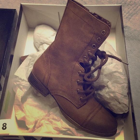 SM Women s Honey Boot- Brown Size 8 8dc703302e